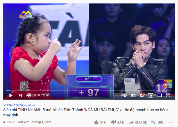 Clip của siêu nhí 5 tuổi bị spam loạt bình luận không xứng đáng khi vượt mặt Jack trên top trending YouTube - Ảnh 2.