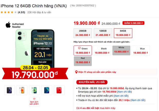 iPhone 12 được giảm giá mạnh, chỉ còn dưới 20 triệu đồng - Ảnh 5.