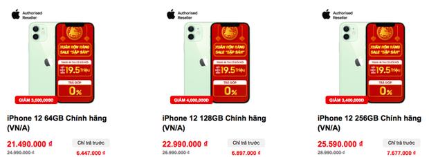 iPhone 12 được giảm giá mạnh, chỉ còn dưới 20 triệu đồng - Ảnh 1.