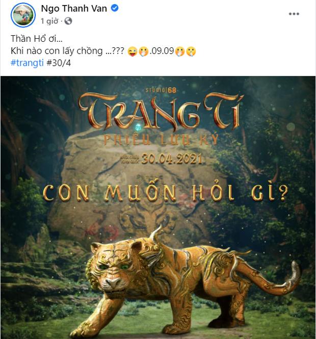 Ngô Thanh Vân - Huy Trần mượn Trạng Tí để thả thính chuyện cưới xin, lộ liễu quá rồi anh chị ơi! - Ảnh 1.