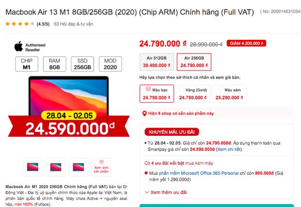 Không chỉ riêng iPhone 12, MacBook M1 cũng đang được giảm giá sâu trong dịp lễ - Ảnh 2.