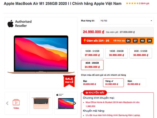Không chỉ riêng iPhone 12, MacBook M1 cũng đang được giảm giá sâu trong dịp lễ - Ảnh 3.