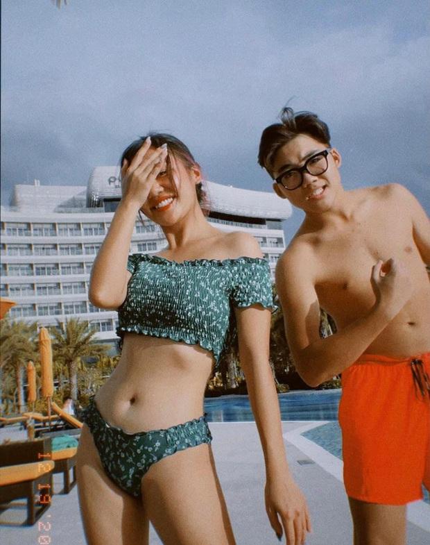 Văn Mai Hương khoe body khét đấy nhưng nhìn bộ bikini hồng sến lại phải trừ điểm - Ảnh 4.