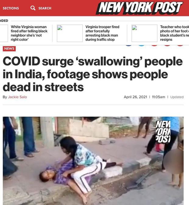 Sự thật phía sau đoạn clip người dân Ấn Độ mắc Covid-19 ngã gục, nằm la liệt trên đường phố gây bão mạng xã hội - Ảnh 3.