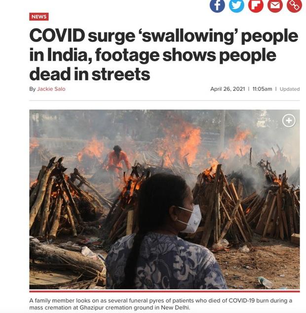 Sự thật phía sau đoạn clip người dân Ấn Độ mắc Covid-19 ngã gục, nằm la liệt trên đường phố gây bão mạng xã hội - Ảnh 4.