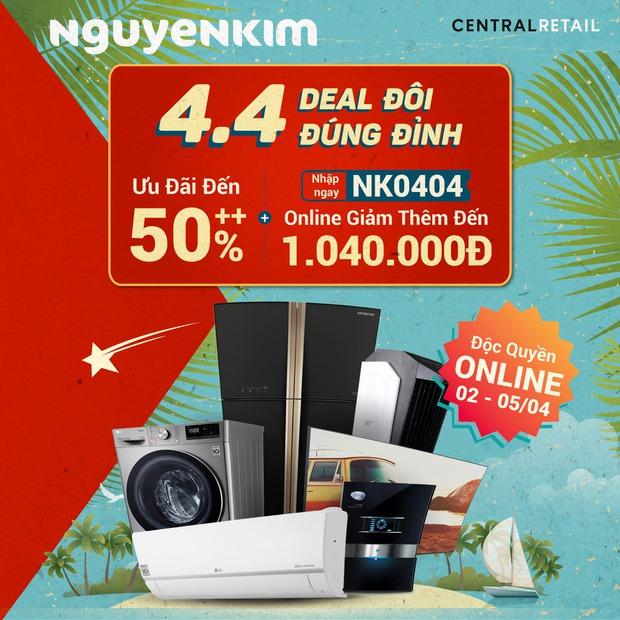 Check nhanh loạt deal 4/4 hời nhất tại các siêu thị điện máy: Máy giặt - sấy siêu rẻ, TV giảm đến 50% - Ảnh 1.