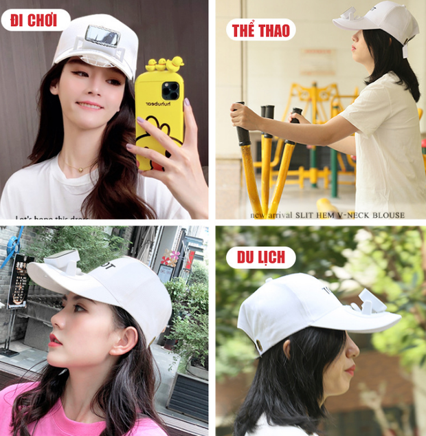 """Trời nóng thế này, tia ngay 5 """"chiếc nón kỳ diệu"""" tích hợp cả mũ lẫn quạt mini, giá chỉ từ 160K - Ảnh 1."""