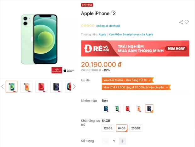 Lễ 30/4 hàng loạt sàn TMĐT giảm giá iPhone 12 kịch sàn, nhưng tại các cửa hàng bán lẻ còn có giá tốt hơn? - Ảnh 1.