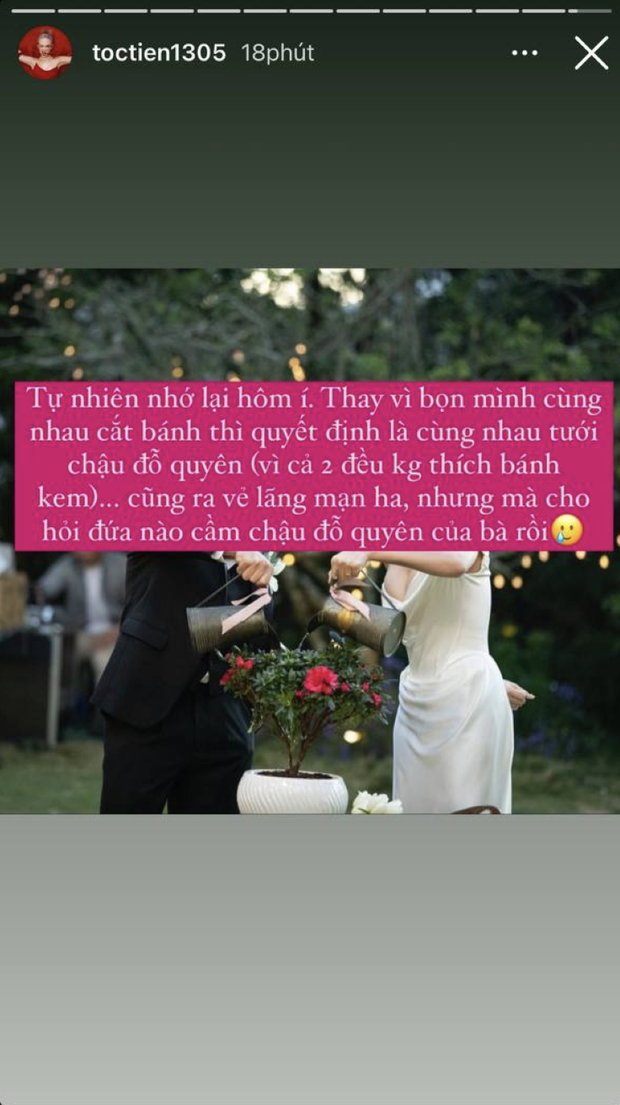 Tóc Tiên lần đầu hé lộ về nghi thức đặc biệt trong đám cưới tại Đà Lạt, tưởng đâu lãng mạn nhưng cái kết có vẻ hơi xu - Ảnh 2.
