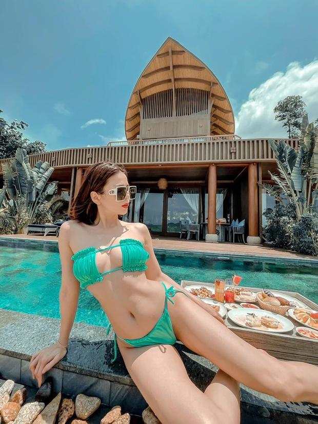 Lệ Quyên gia nhập đại chiến bikini: Tạo dáng uốn éo trông thật sexy mà nhìn muốn trẹo eo - Ảnh 3.