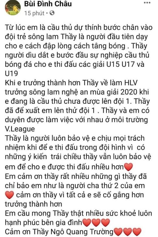 Phan Văn Đức nặng lòng khi chia tay HLV Ngô Quang Trường: Thương thầy! - Ảnh 3.