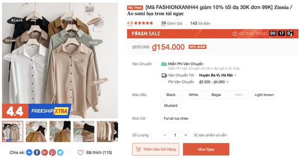 Đồ trendy rẻ đẹp sale tụt nóc ngày 4/4: Sơ mi oversize chỉ 150k, quần ống rộng xịn hết nấc chỉ từ 200k - Ảnh 1.