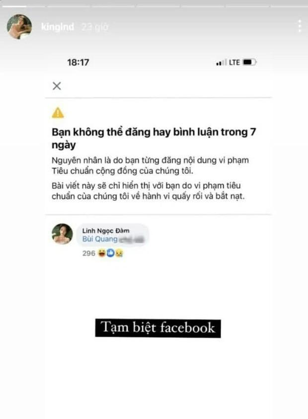 Khẩu nghiệp không ngừng nghỉ, Facebook tiếp tục khóa môi Linh Ngọc Đàm - Ảnh 1.