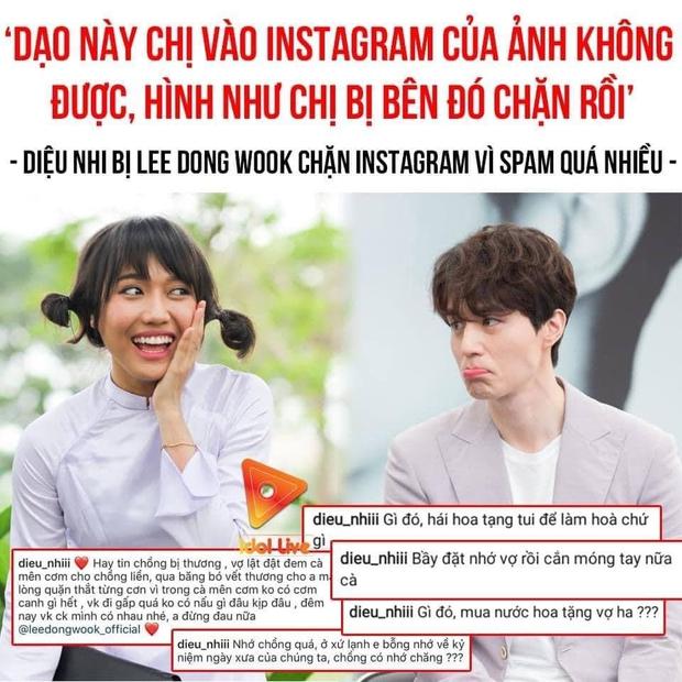 Diệu Nhi bị tài tử Lee Dong Wook chặn Instagram vì liên hoàn spam bình luận? - Ảnh 2.