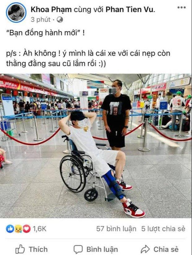 Karik phải ngồi xe lăn sau khi gặp tai nạn té từ sân khấu xuống đất, chính thức lên tiếng về khả năng tham dự Rap Việt Concert - Ảnh 3.