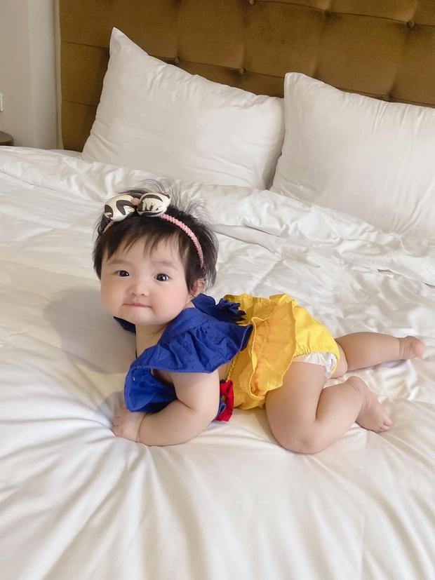 Winnie được Đông Nhi hóa trang thành bạch tuyết siêu cưng, netizen vội đoán giới tính nhóc tỳ thứ 2 tương lai nhờ 1 chi tiết - Ảnh 4.