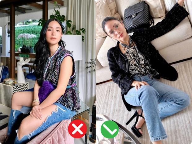 Bạn thân Hà Tăng diện quần jeans mà dân tình xa lánh, lặp lại vết xe đổ từ style thảm họa của Hương Giang - Phượng Chanel - Ảnh 4.
