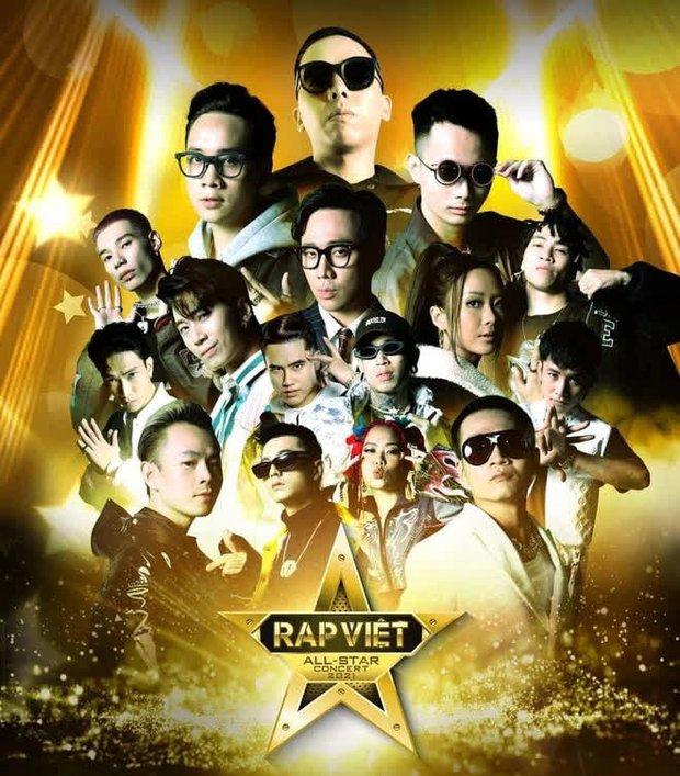 Rap Việt Concert công bố poster dàn line-up: Chỉ có 8 thí sinh Chung kết, những cái tên hot như 16 Typh, Yuno Bigboi... sẽ vắng mặt? - Ảnh 2.