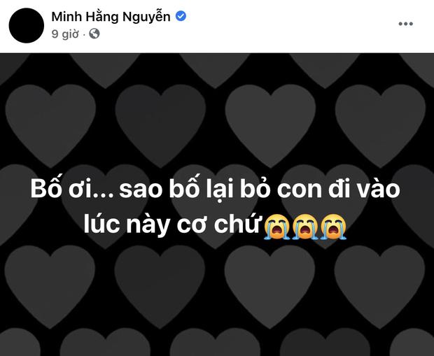 Chồng mất chưa đầy 49 ngày, NSND Minh Hằng phải tiếp tục chịu tang bố, có dòng chia sẻ khiến ai nấy đều quặn lòng - Ảnh 2.