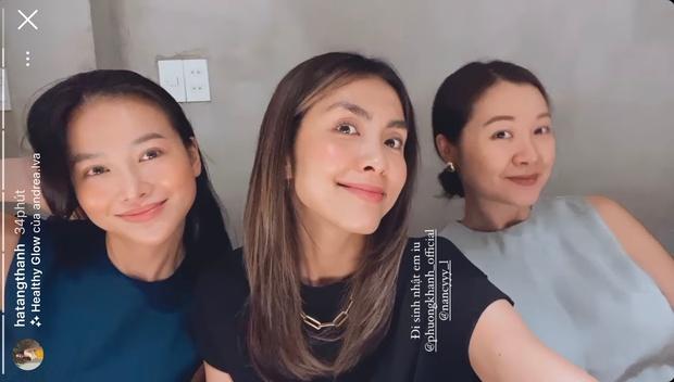 Hà Tăng khoe visual trong tiệc sinh nhật Phương Khánh, mẹ 2 con mà nhan sắc lấn át cả Hoa hậu trái đất - Ảnh 2.