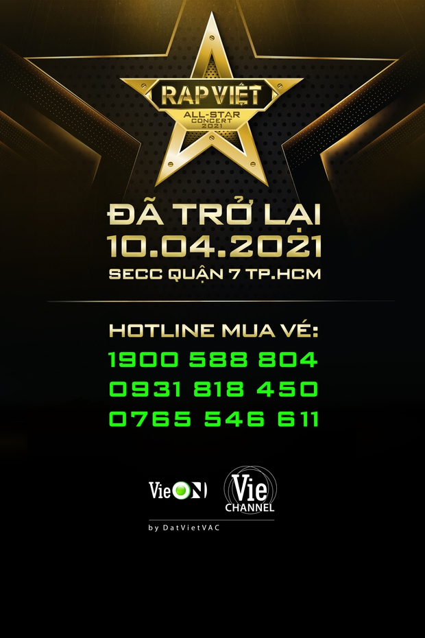 Live Concert Rap Việt chốt ngày comeback 10/4, fan săn vé trước giờ G - Ảnh 2.