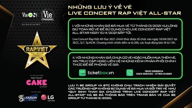 Live Concert Rap Việt chốt ngày comeback 10/4, fan săn vé trước giờ G - Ảnh 4.