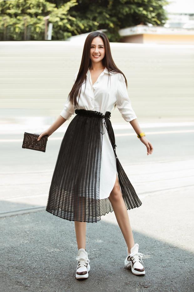 Mai Phương Thuý khoe visual trẻ trung, xinh đẹp khi đi ghi hình Ký Ức Vui Vẻ - Ảnh 3.