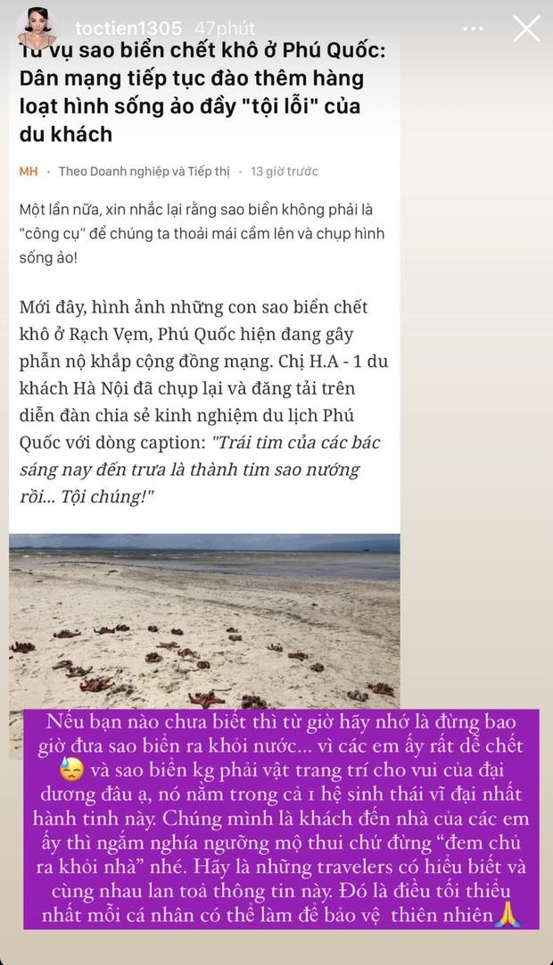 Sau Tóc Tiên, đến Hoa hậu Trái đất Phương Khánh lên án hành động chụp ảnh với sao biển: Trực tiếp đặt án tử, gián tiếp huỷ hoại hệ sinh thái - Ảnh 4.