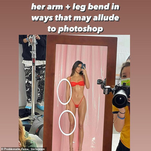 Bóc tuyển tập chỉnh fail lòi của chị em Kardashian: Kim có 6 ngón chân, Kendall - Kylie chiết 1 chi tiết, Khloe fake nhất - Ảnh 13.