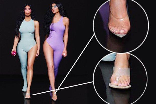 Bóc tuyển tập chỉnh fail lòi của chị em Kardashian: Kim có 6 ngón chân, Kendall - Kylie chiết 1 chi tiết, Khloe fake nhất - Ảnh 3.