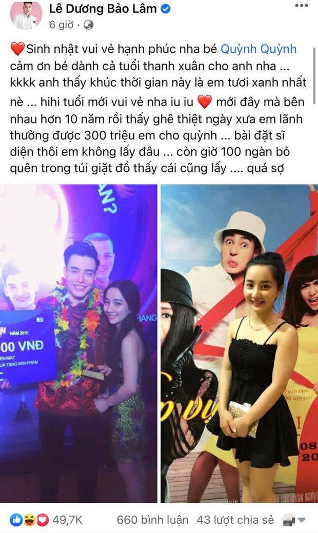 """Lê Dương Bảo Lâm chúc sinh nhật vợ, tưởng đội """"nóc nhà"""" lên đầu, ai ngờ là """"cà khịa"""" chuyện tiền bạc trá hình - Ảnh 2."""