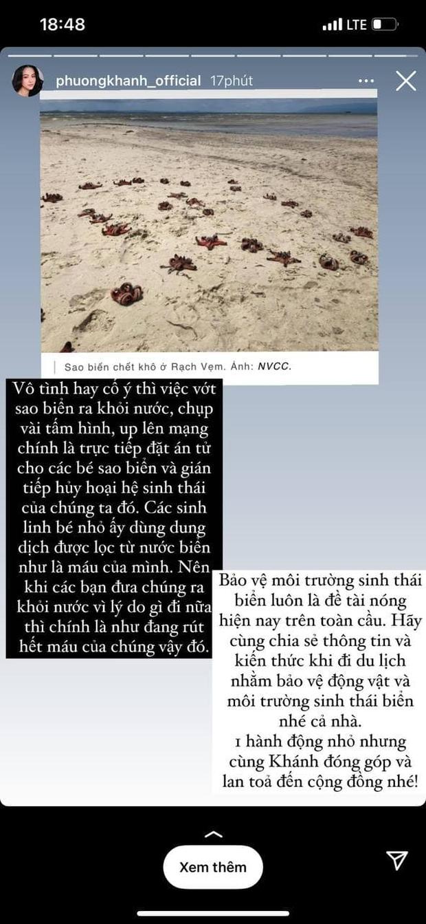 Sau Tóc Tiên, đến Hoa hậu Trái đất Phương Khánh lên án hành động chụp ảnh với sao biển: Trực tiếp đặt án tử, gián tiếp huỷ hoại hệ sinh thái - Ảnh 2.
