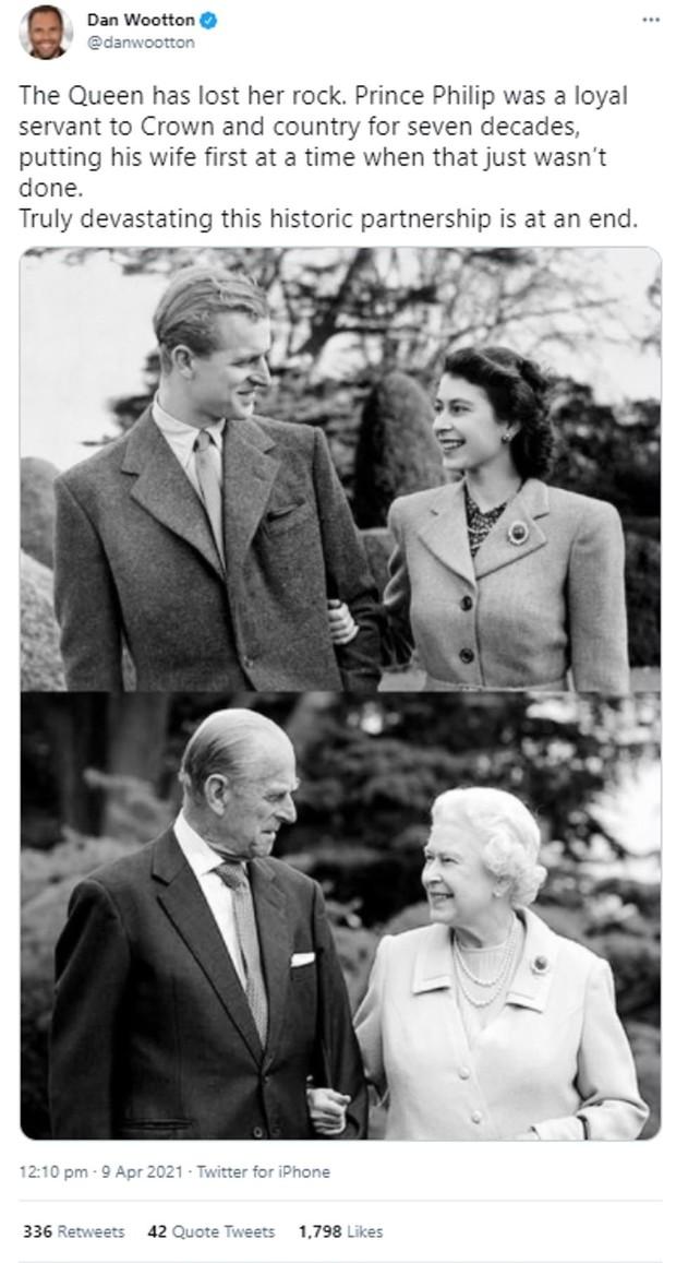Chùm ảnh: Toàn nước Anh u buồn trước sự ra đi của Hoàng thân Philip và lo lắng cho tình hình của Nữ hoàng - Ảnh 18.