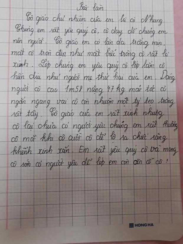 Bài văn tả cô giáo thật đến từng chi tiết nhưng lỡ bóc phốt 1 sự thật, cô đọc vào chắc ngượng lắm đây - Ảnh 1.