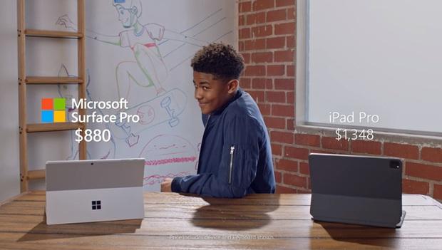 Quảng cáo Surface Pro 7 mới nhất của Microsoft tiếp tục lôi iPad Pro ra làm trò đùa - Ảnh 6.