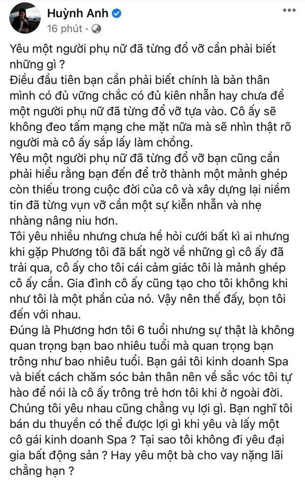 Huỳnh Anh làm rõ lý do cầu hôn bạn gái single mom và nghi vấn hôn thê có gia thế liên quan đến 1 trong 4 người giàu nhất Việt Nam - Ảnh 2.