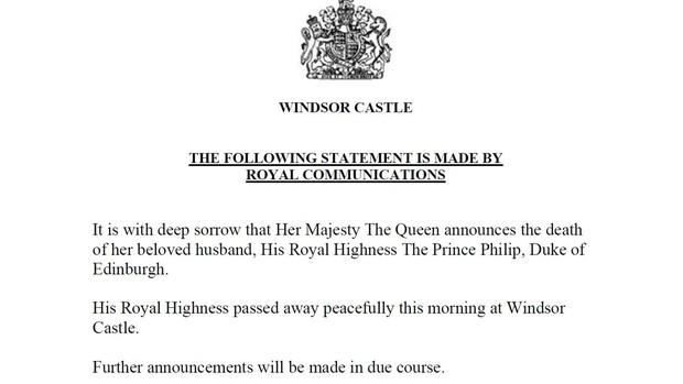 Nóng: Hoàng thân Philip - chồng Nữ hoàng Anh qua đời ở tuổi 99 - Ảnh 1.
