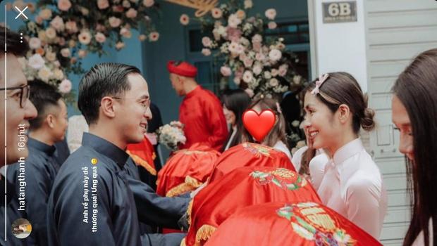 Đi bê tráp kiểu Hà Tăng và chồng đại gia: Visual đỉnh cao gây sốt, tiện chụp ảnh kỷ niệm nhìn tưởng cảnh phim ngôn tình - Ảnh 2.