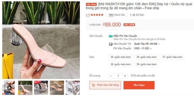 Từ 89k sắm ngay được kiểu giày/dép cao gót hack dáng vi diệu mà Hà Tăng cũng mê - Ảnh 4.