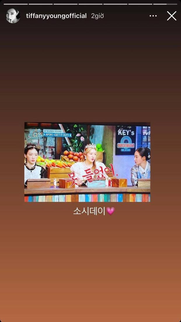 3 mỹ nhân SNSD đánh lẻ trên show, hội chị em ở nhà liền PR nhiệt liệt - Ảnh 4.