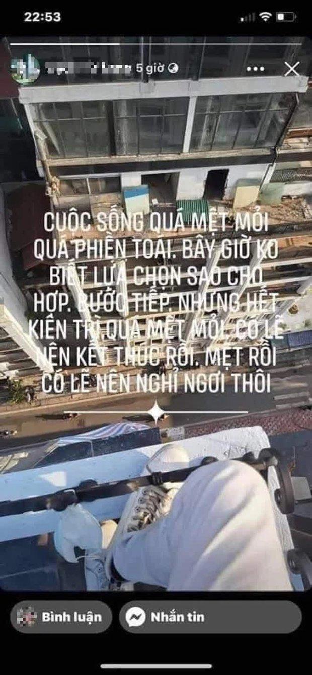 Xôn xao dòng chia sẻ cuối cùng của nam thanh niên nhảy từ tầng thượng khách sạn trên phố Hà Nội: Vĩnh biệt tất cả. Tôi nghỉ ngơi đây - Ảnh 2.