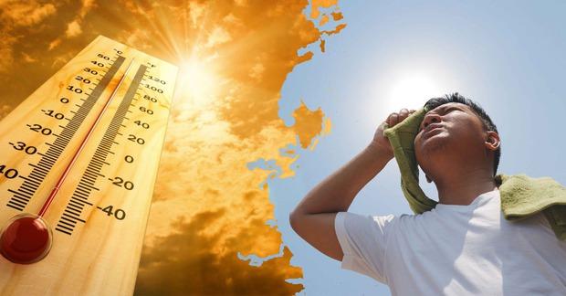 Miền Bắc đón đợt nắng nóng gay gắt kéo dài, nhiệt độ cao nhất trên 39 độ C  - Ảnh 1.