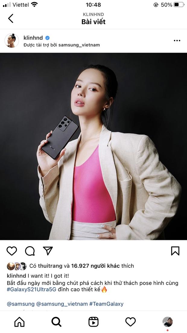 Hết Châu Bùi, đến lượt Cô em Trendy Khánh Linh bị bóc phốt làm KOL kém chuyên, dùng iPhone đăng story quảng cáo Samsung - Ảnh 4.