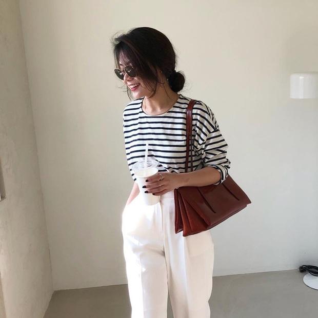 Phương Anh - quý cô diện đồ Hàn theo style Pháp: Sự tinh tế, sang trọng luôn đến từ jeans, sơ mi hay chính dáng quần âu vẫn mặc - Ảnh 2.