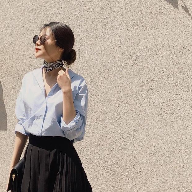 Phương Anh - quý cô diện đồ Hàn theo style Pháp: Sự tinh tế, sang trọng luôn đến từ jeans, sơ mi hay chính dáng quần âu vẫn mặc - Ảnh 12.