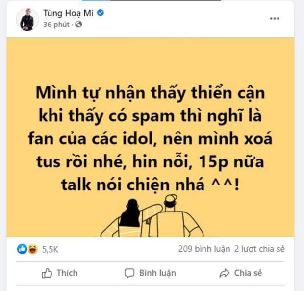 Tùng Họa Mi đăng đàn cà khịa fan Sơn Tùng M-TP và Jack, nhưng chỉ 5 phút sau đã bất ngờ quay xe - Ảnh 3.