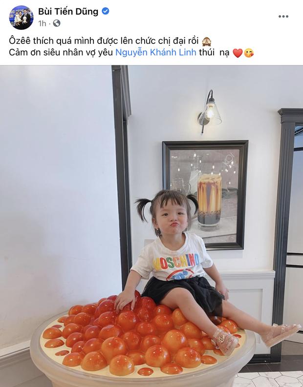 Bà xã Bùi Tiến Dũng thông báo mang bầu tập 2, bé Sushi chính thức lên chức chị - Ảnh 3.