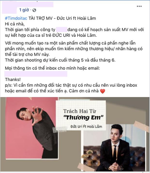 Vừa lộ tin nhắn với vợ cũ Cindy Lư, ekip Hoài Lâm tận dụng drama tung luôn ca khúc ăn theo hai chữ Thương Em? - Ảnh 3.