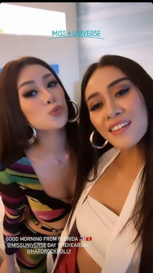 Khánh Vân ngày càng sexy, lên đồ bốc lửa xinh xỉu và có phần lấn át các thí sinh Miss Universe - Ảnh 2.