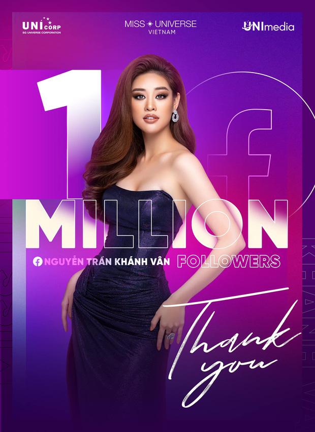 Độ hot của Khánh Vân tăng vọt chỉ sau 4 ngày chinh chiến tại Miss Universe, chính thức cán mốc 1 triệu follower Facebook - Ảnh 2.